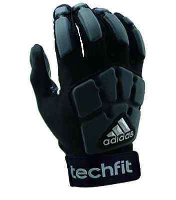 New adidas Youth TechFit Lineman Football Gloves Black/Gray Large Goal Keeper HQ