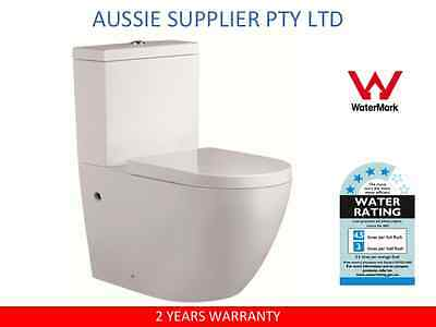 Toilet Suite Ceramic Soft Close Seat Back To Wall Washdown P Or S Trap