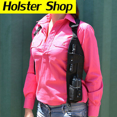 UHF Hand Held Two Way Radio Holster Holder Security Style - Concealed LHS