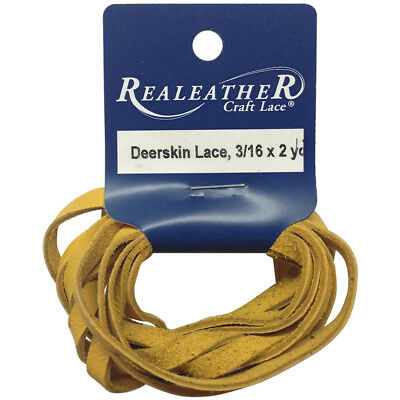 """Deerskin Lace .1875""""X2yd Packaged Gold DOS31602-0400"""