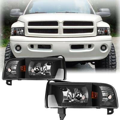 for 1994-2002 Dodge Ram 1500 2500 3500 Headlights+Corner Lights Signal Lamp PAIR