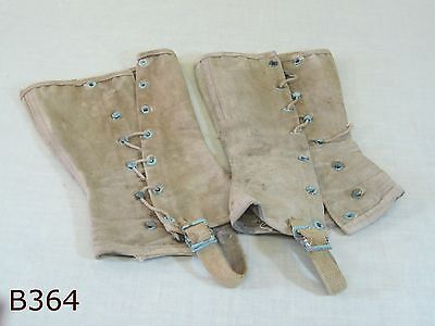 Vintage World War I Ii Militray Army Navy Uniform Leggings Spats Canvas Pair Old
