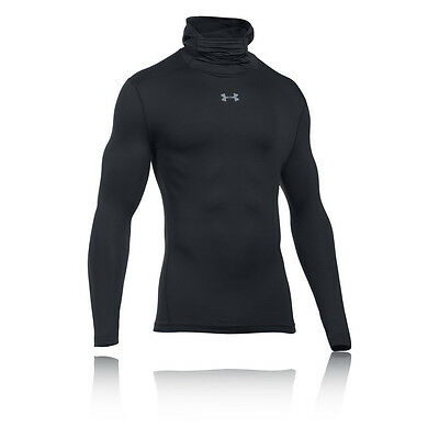 Under Armour CG Armour Mens Black Compression Hoody Running Hooded Top