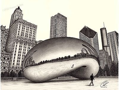 """""""The Bean"""" - 18x24 inch pencil drawing (print), direct from artist."""