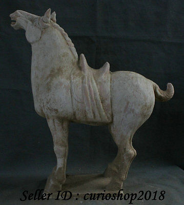 "20"" Ancient China Tang San Cai Pottery Porcelain Dynasty Tang Horse Sculpture"