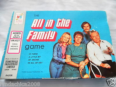 Vintage ALL IN THE FAMILY Board Game By Milton Bradley