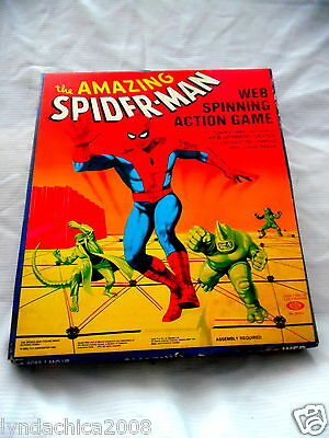 Vintage Amazing Spiderman Web Spinning Game Marvel By Ideal 1979 COMPLETE