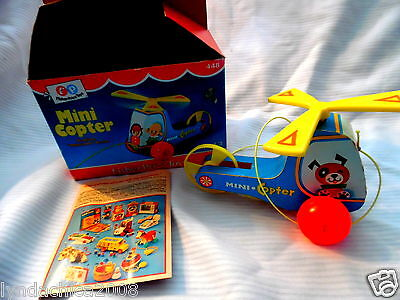 Vintage Fisher Price MINI COPTER Toy 1970 BOX INCLUDED