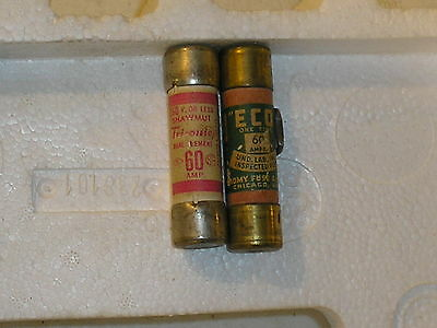 (LOT OF 2)MISC 60A 250v one time fuse