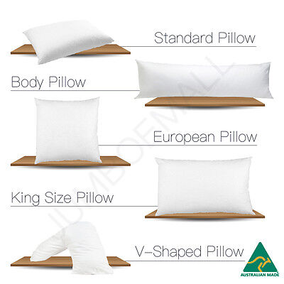 Aus Made Standard/V Shape/Tri/Boomerang/Body/King Size/European Pillow Choice