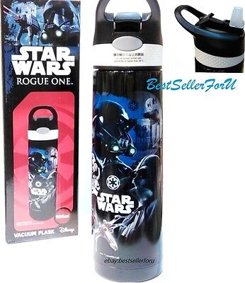 Disney Star Wars Rogue One Flip Straw Cap Stainless Steel Insulated Vacuum Flask