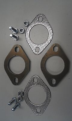 """Exhaust Flange Plates 51Mm 2""""inch Gaskets & Bolts"""