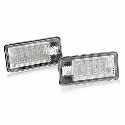 2 x 18 SMD LED White License Plate Light for Audi A3 A4 8E V3X