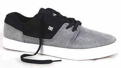 DC Men's 302905 Tonik Grey/Black Suede Leather Skate Casual Shoes --Special