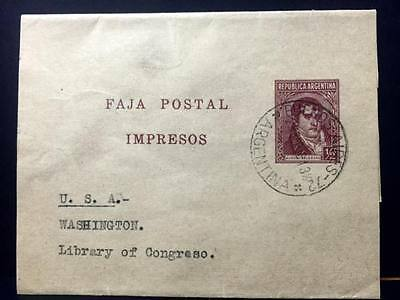 Argentine ,Wrapper to Library Of Congress , U.S.