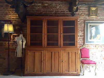 Fabulous Antique Pine Dresser Display Cabinet Victorian 19th Century Large