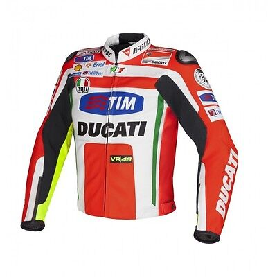 DAINESE DUCATI MOTORBIKE RACING LEATHER JACKET A+ GUARANTEED LEATHER XL only