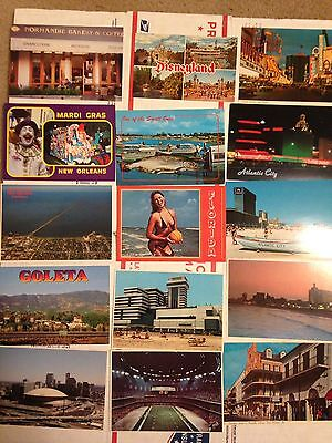 Large lot of 1000 + All US Mostly Vintage Chrome Postcards Towns Views Locations