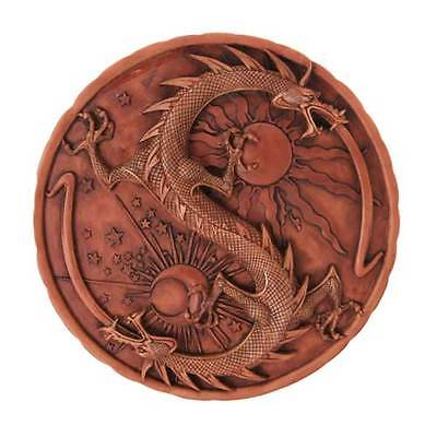 "Double Dragon Alchemy Plaque - 11"" -  Wall Hanging"