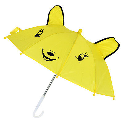 Children Panda Pattern Mini Yellow Umbrella Playing Toy M3S0