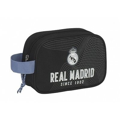 """REAL MADRID """"BLACK"""" Neceser bolsa de aseo 22 cm // Carrying case with zip"""