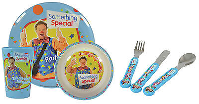 Something Special | Mr Tumble Mealtime 6pc Tumbler, Bowl, Plate & Cutlery Set