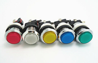 12 pcs of silver plated lighted button Illuminated Push Button with microswitch