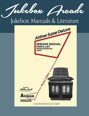 Aireon Model 1200A Airliner Super Deluxe Service, Parts Manual/  Troubleshooting