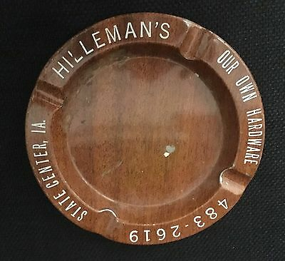 Hilleman's Hardware State Center IA Ashtray Vintage