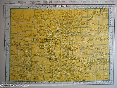 CO CT. Vintage 1939 COLORADO RAILROAD Map. CONNECTICUT Map. 1930s