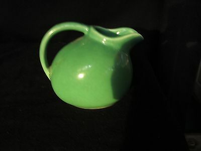 Vintage Pottery Ball Pitcher Small Syrup Jadeite Green