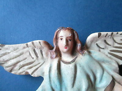 """Antique/vintage angel for christmas tree from,plaster """"Gloria in Excelsis deo"""""""