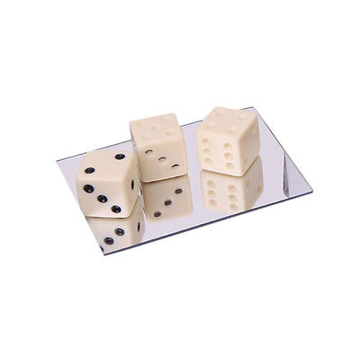 Mirror Dice Illusion Trick Game Magic Props J3A