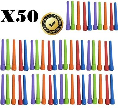 50 x EXTRA LARGE Hookah Mouth Tips Reusable Plastic Shisha Pipe Inner Mouthtips