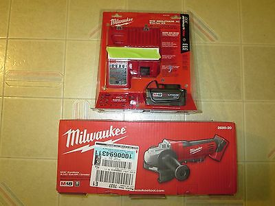 Milwaukee M18 2680-20 Cordless Cut-Off/Grinder + Red Lithium XC 3.0 Starter Kit
