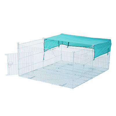 Pawhut Small Animal Enclosure Rabbit Dog Pet Metal Net Outdoor Run Play w/ Cover