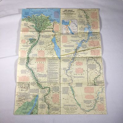 Nile Valley Land Of The Pharaohs Map 1965 National Geographic Society