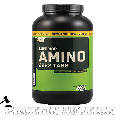 Optimum Nutrition Superior Amino 2222 320 Tabs BBE Feb 2017 Short Dated Discount