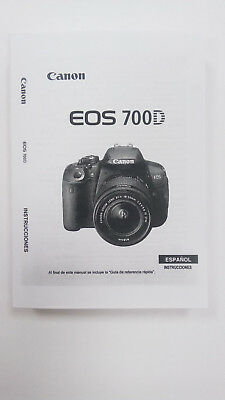 Manual Canon EOS 700D (Castellano)