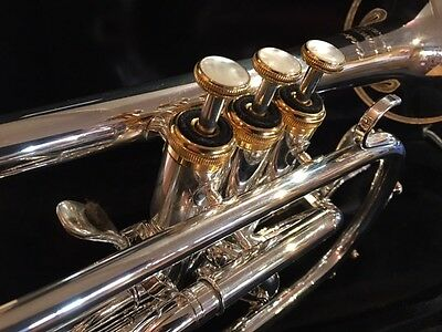 Willson 400 Celebration B flat cornet (silver-plate)