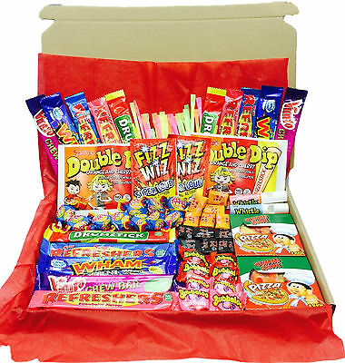 British Retro Sweets Gift Box - English - Hamper -Double Dip -Refresher -Candy L