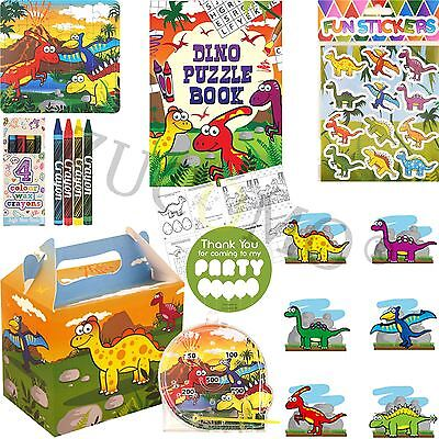 Boys Girls Filled Party Boxes Themed Kids Dinosaur Party Supplies Ready Made