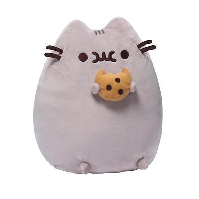 "Pusheen The Cat Plush Pusheen with Cookie Official Gund Brand 9"" Soft Cuddly Toy"