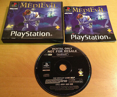 MEDIEVIL RENTAL VERSION for SONY PS1, PS2 & PS3