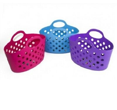 Brights Multipurpose Flexible Plastic Handy Storage Caddy Basket With Handles
