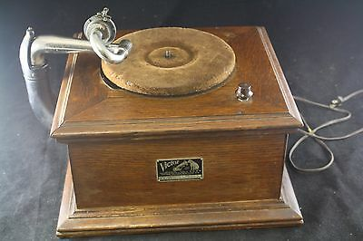 1917 Victor Talking Machine Model Vv-Vi Phonograph Working Electrified 274333F