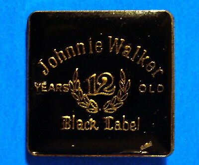 Johnnie Walker - Black Label - 12 Years Old Scotch Whisky - Vintage Lapel Pin