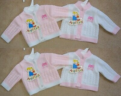 Tiny Premature Baby Boys Gilrs Knitted Wool Cardigans Jumpers Newborn Gift Blue