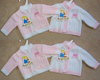 Tiny Premature Baby Boys Girls Knitted Wool Cardigans Jumpers Newborn Gift Blue