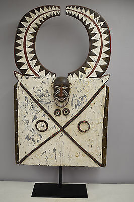Tusian Burkina Faso Bakota African Wood Carved Face Mask